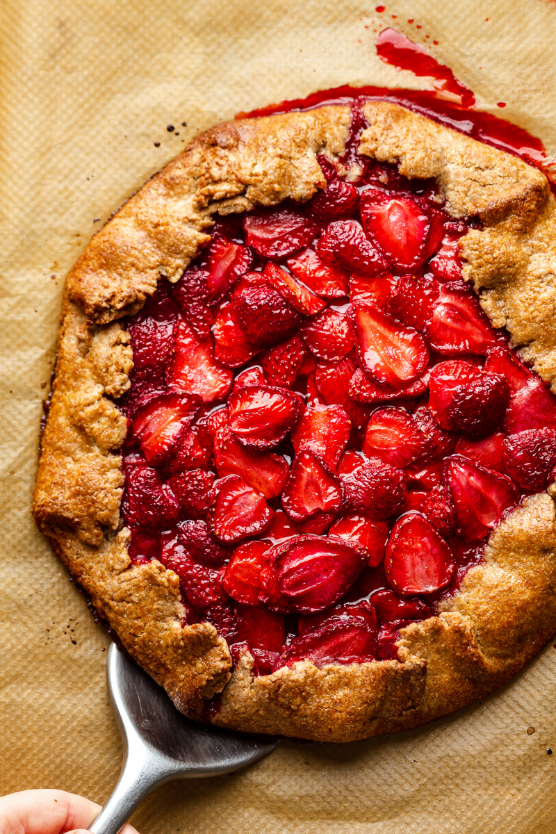 vegan strawberry galette whole