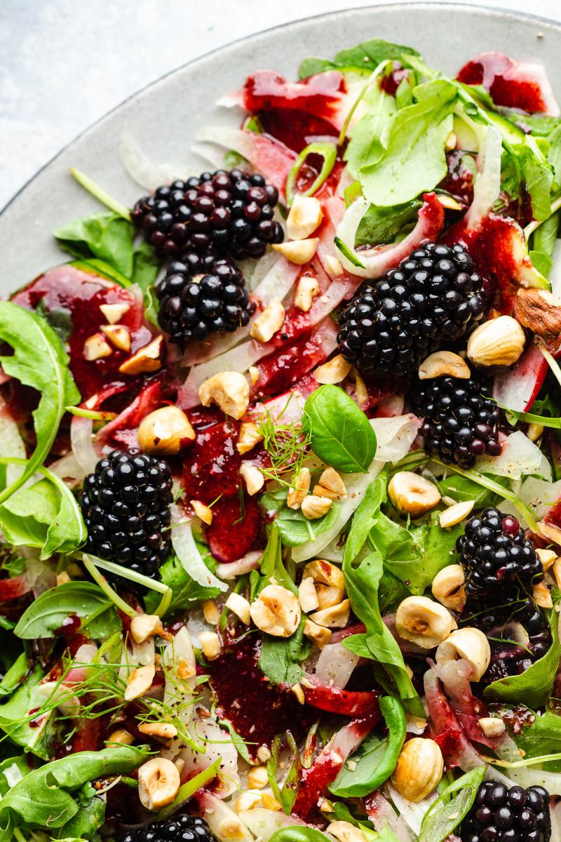 blackberry salad adas dari dekat