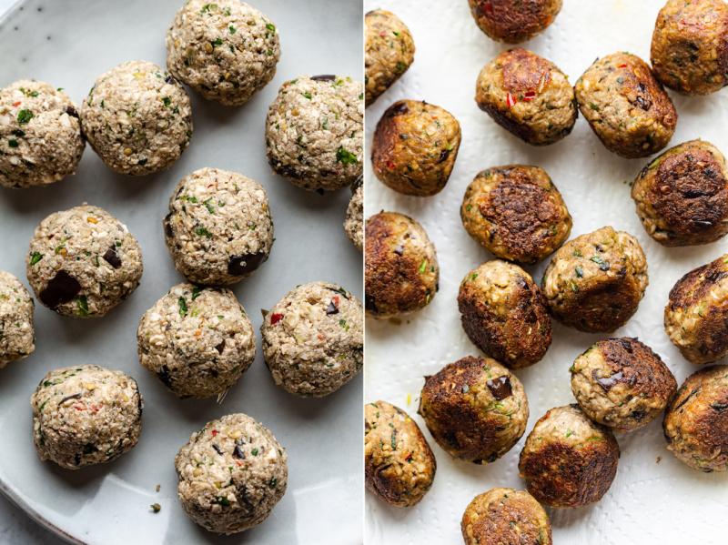 lemongrass meatballs raw cooked