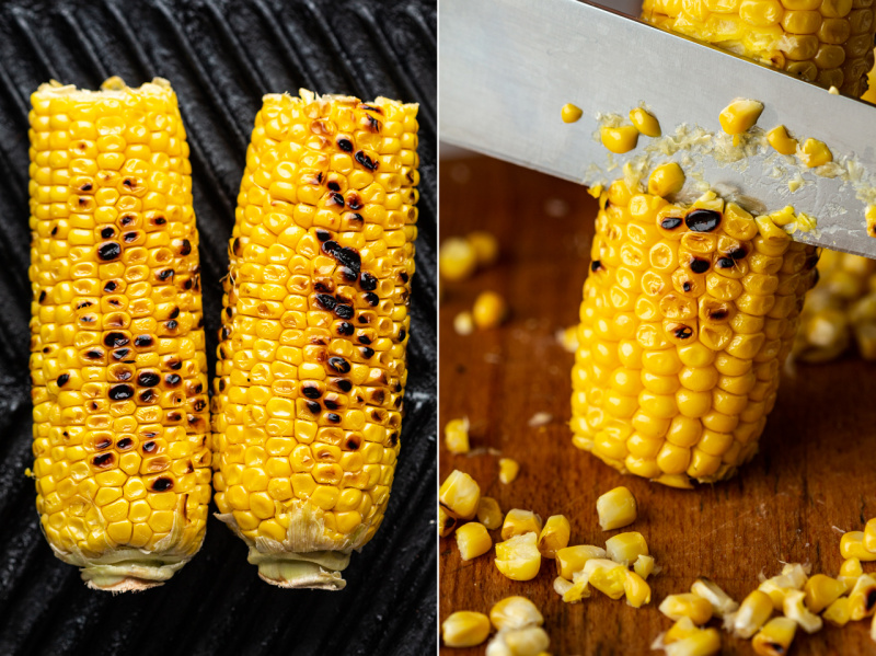 summer farro salad corn