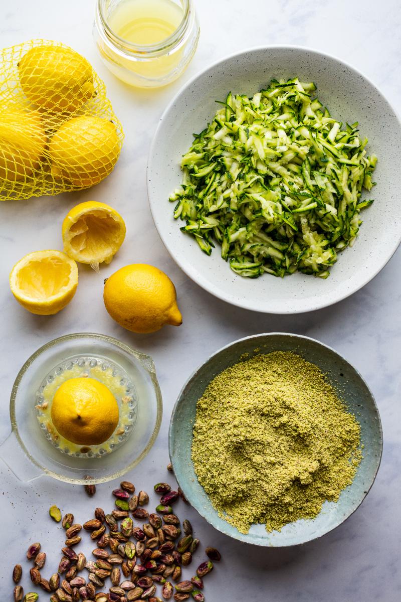 vegan courgette cake ingredients