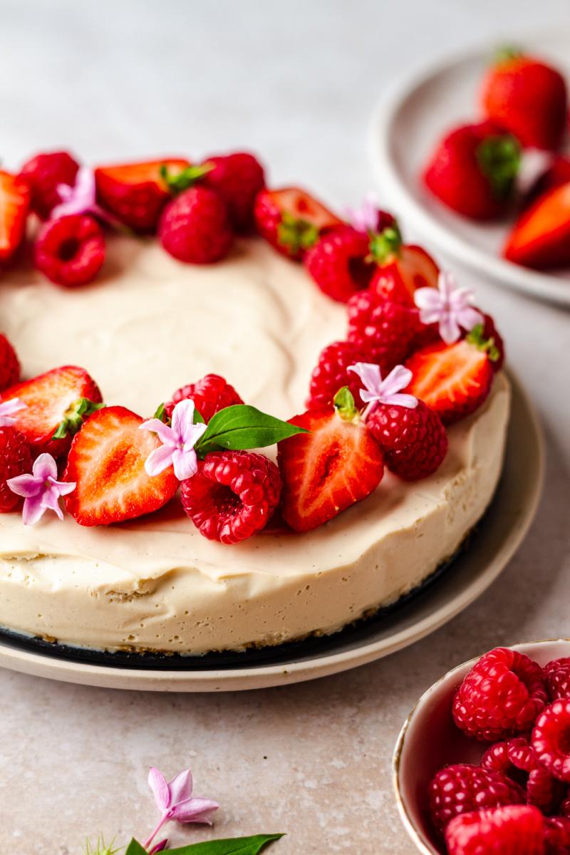 no bake vegan cheesecake