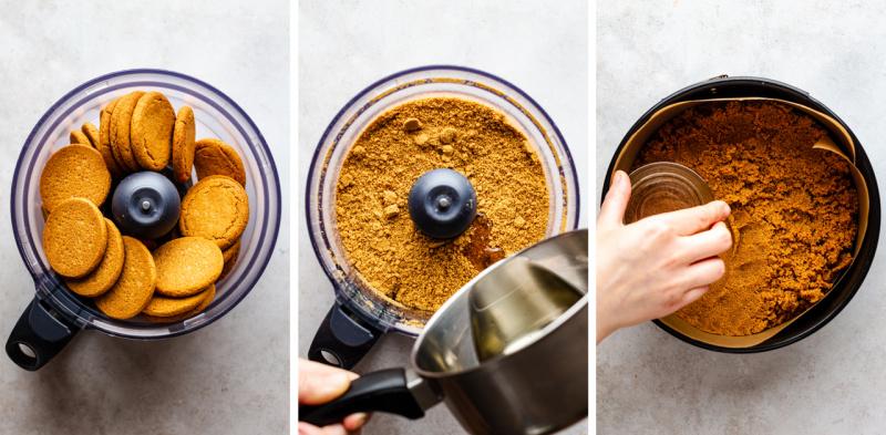 no bake vegan cheesecake crust process