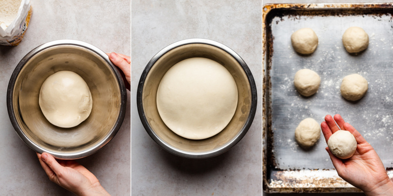 vegan polish sweet cheese rolls dough rising
