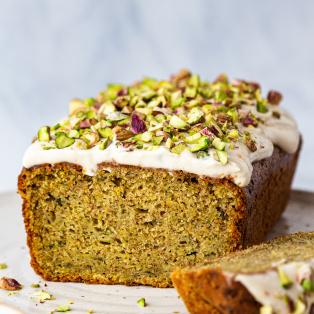 vegan zucchini cake cross section