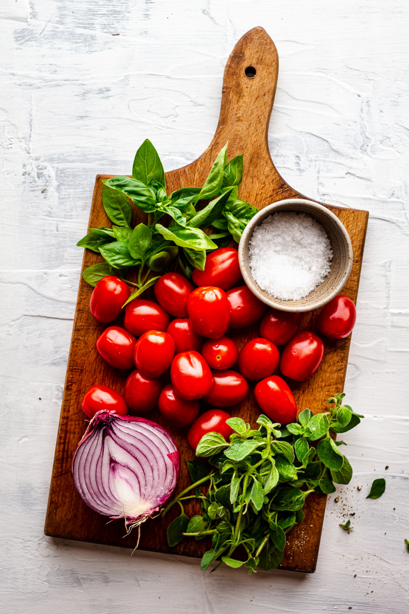 greek tomato fritters ingredients