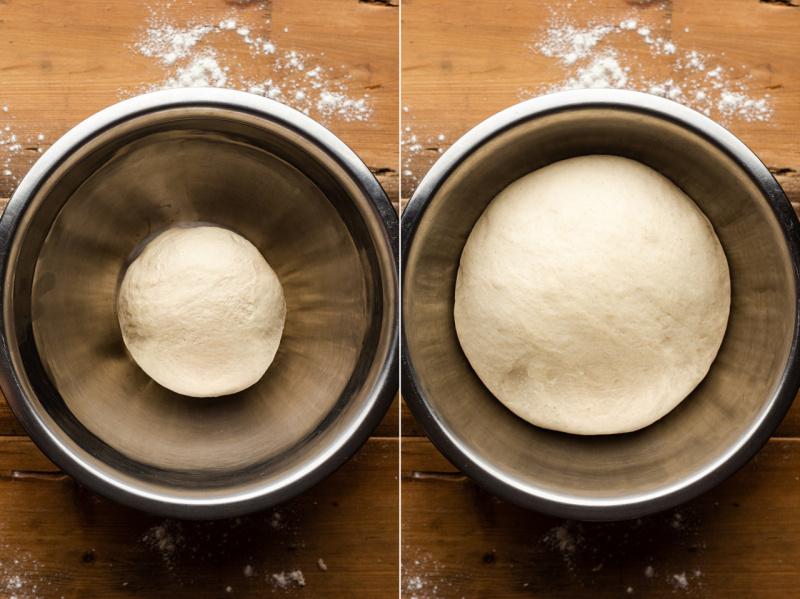 vegan pretzel burger buns proofing dough