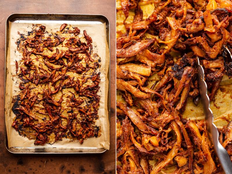 vegan pulled pork after baking