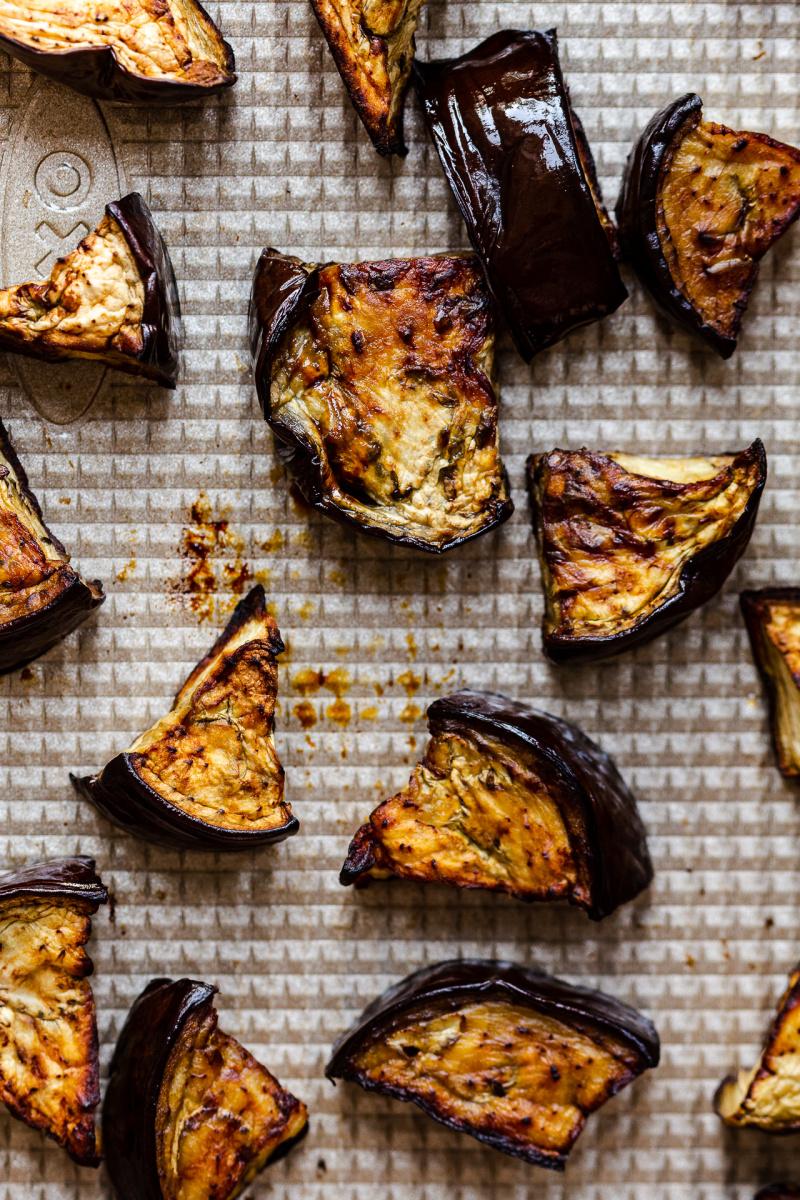 vegan turmeric curry aubergine