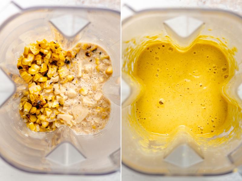 vegan corn chowder blending