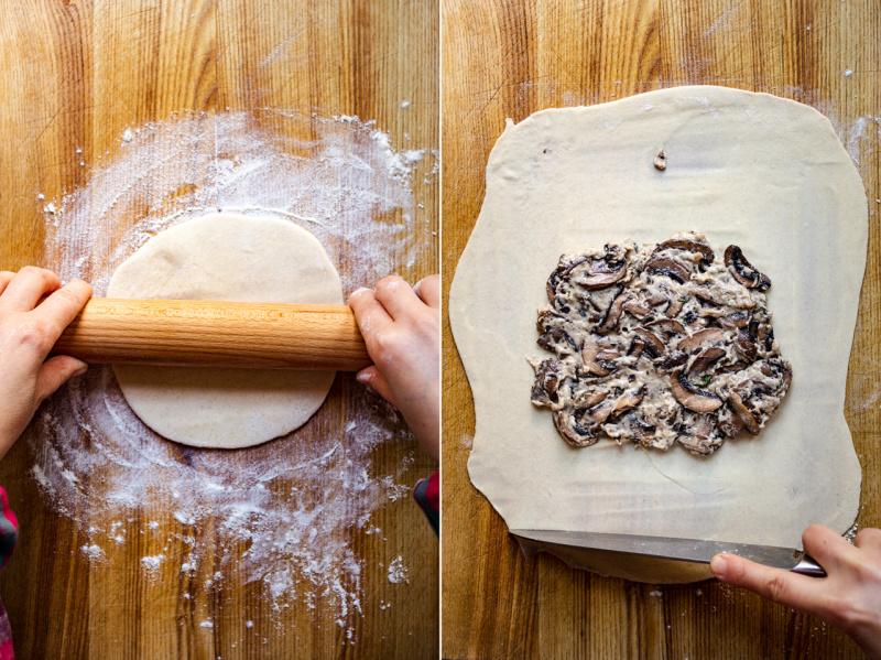 pembuatan jamur gozleme vegan