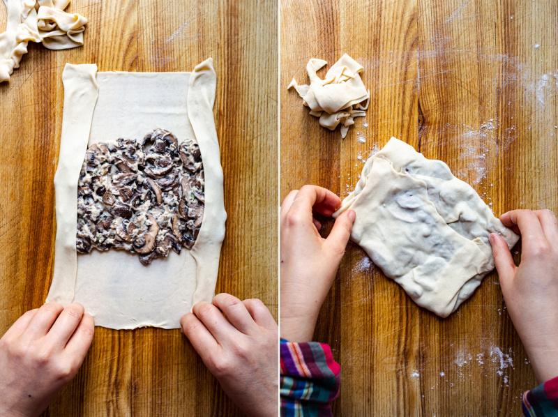 pembentukan jamur gozleme vegan