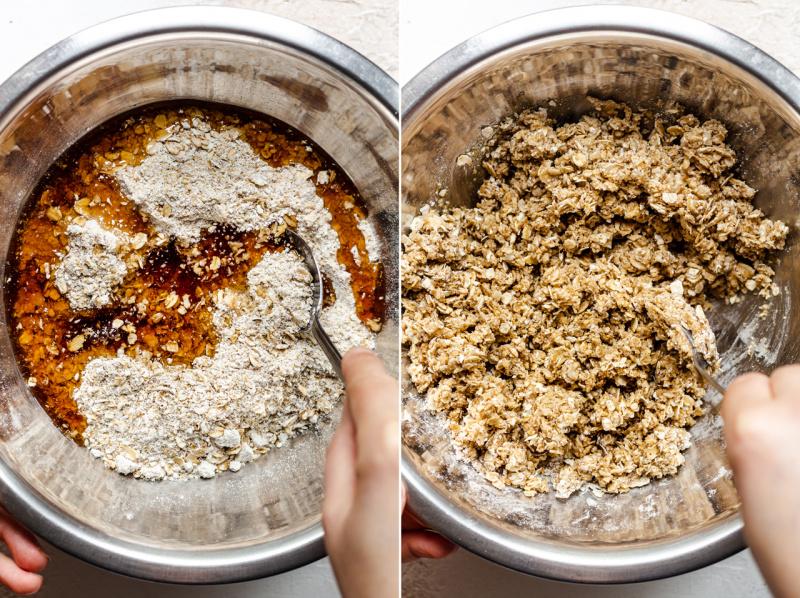 vegan granola cups oat mixture