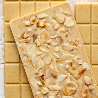 vegan white chocolate bars