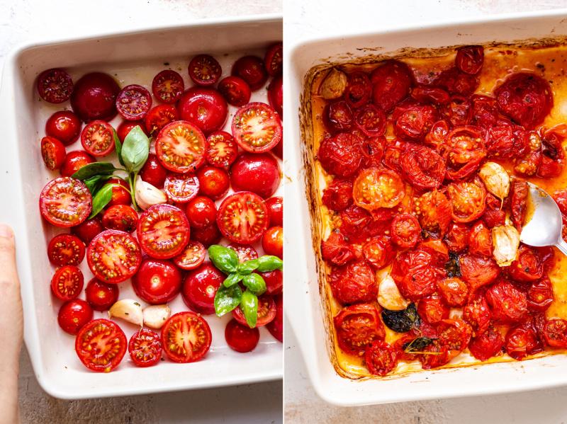 saus tomat panggang sebelum sesudah
