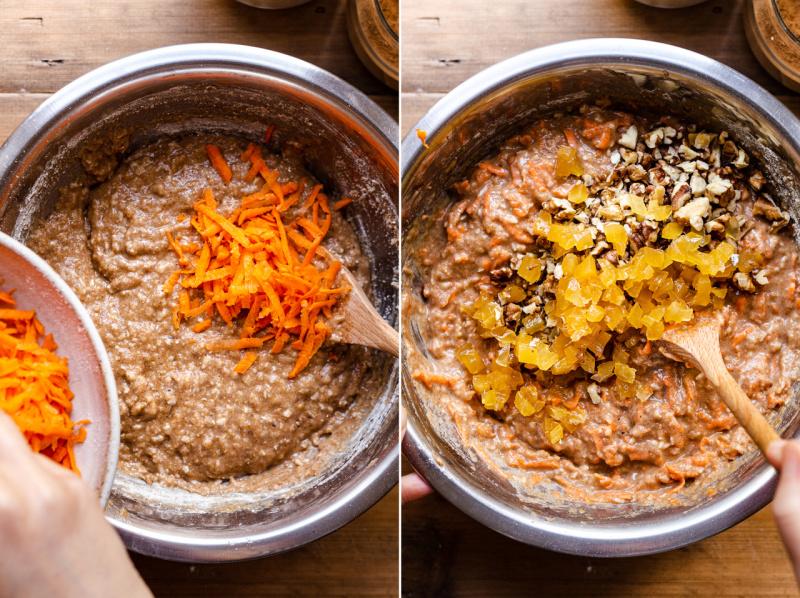 vegan carrot muffins spelt mixins
