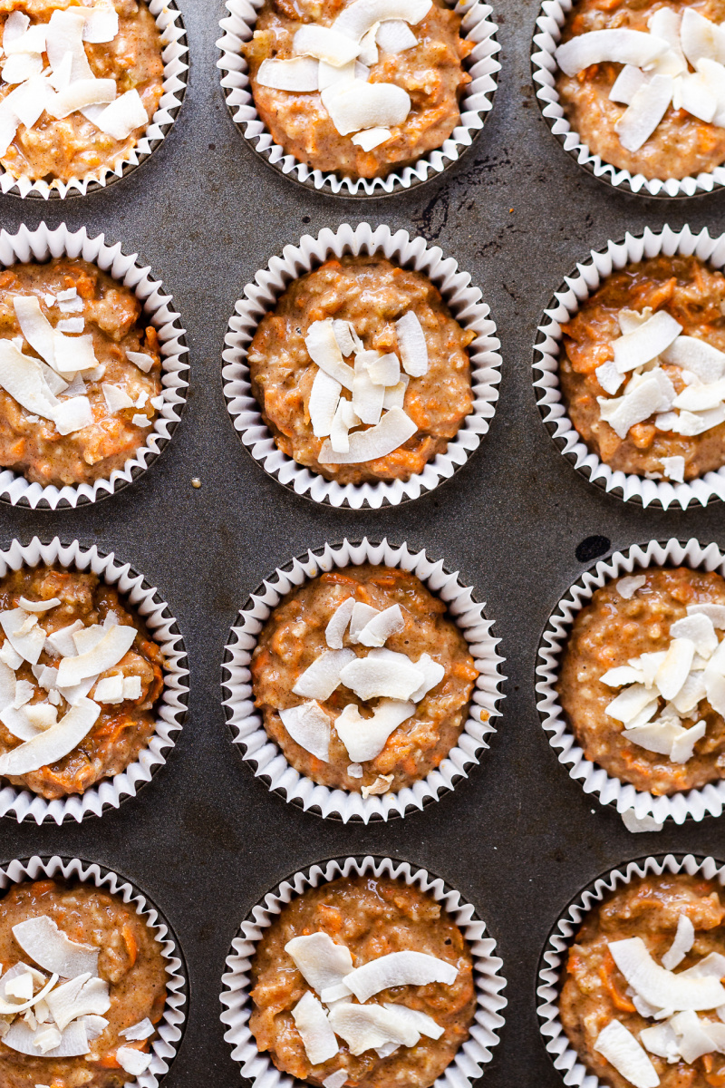 vegan carrot muffins spelt raw